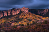 fall, Colorado, long exposure, Cimarron Range, light