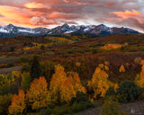 Sneffles Mountain Range, fall, morning, Dallas divide
