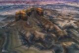 badlands, Utah, fortress, rock, castle, aerial, patterns, unique, drone, soil, perspective