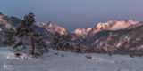 Rocky Mountain National Park, Colorado, snow, winds, glow