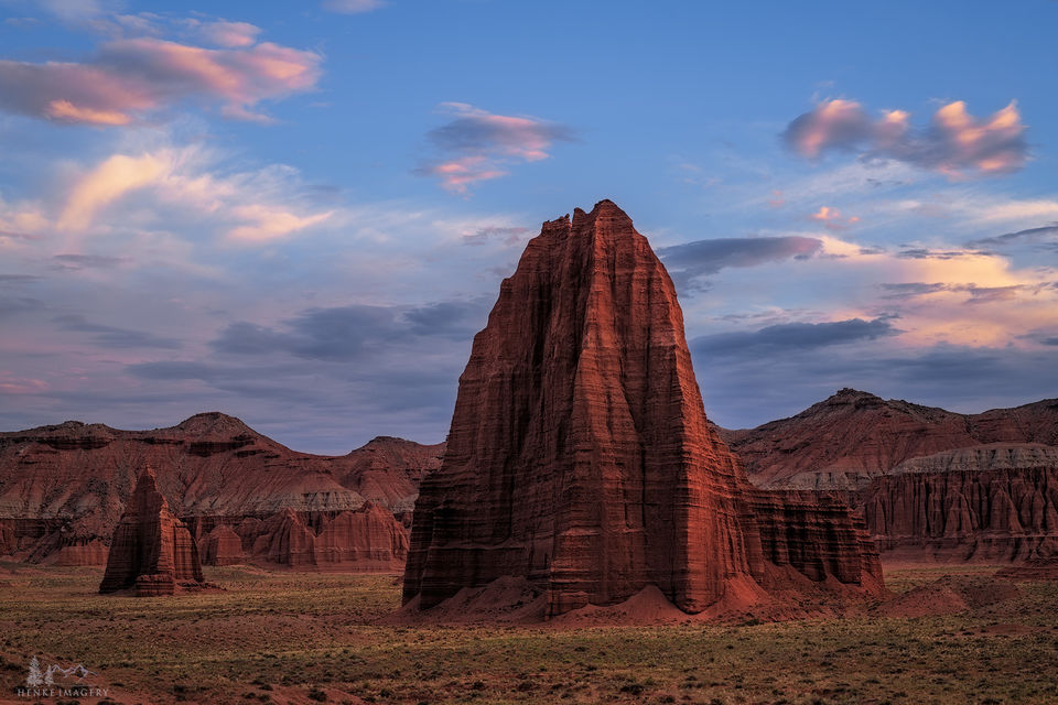 Capitol Reef National Park, Utah, monoliths, southwest, Temple of sun and moon, rock, rock formations, Utah, temples