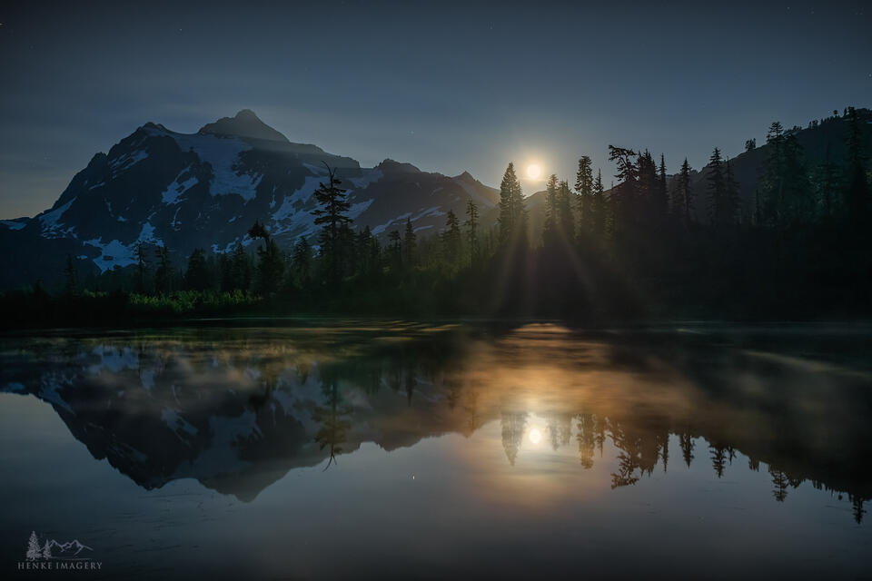 Cascade Moonbeams