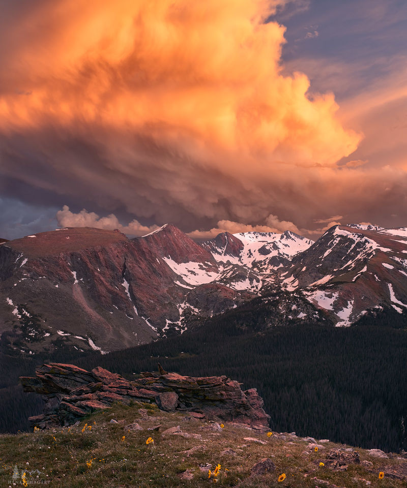 Rocky Mountain National Park, national park, light, weather, thunderstorm, summer, evening, summer thunderstorm
