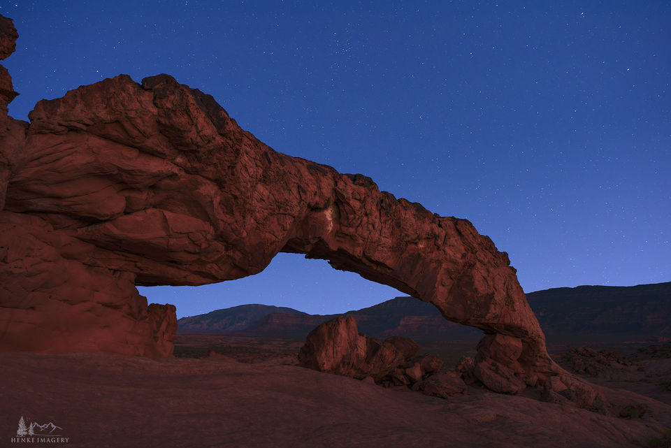 Grand Staircase-Escalante National Monument, Utah, sage brush, arch, twilight,