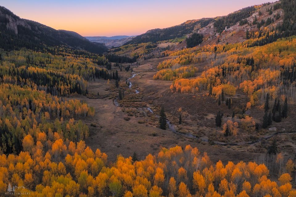 Gunnison National Forest, Colorado, fall, colors, fall colors, trees, aspens, morning, aerial