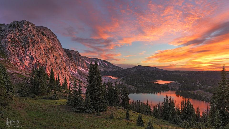 Snowy Range, Wyoming, calm morning, alpine, alpine splendor,
