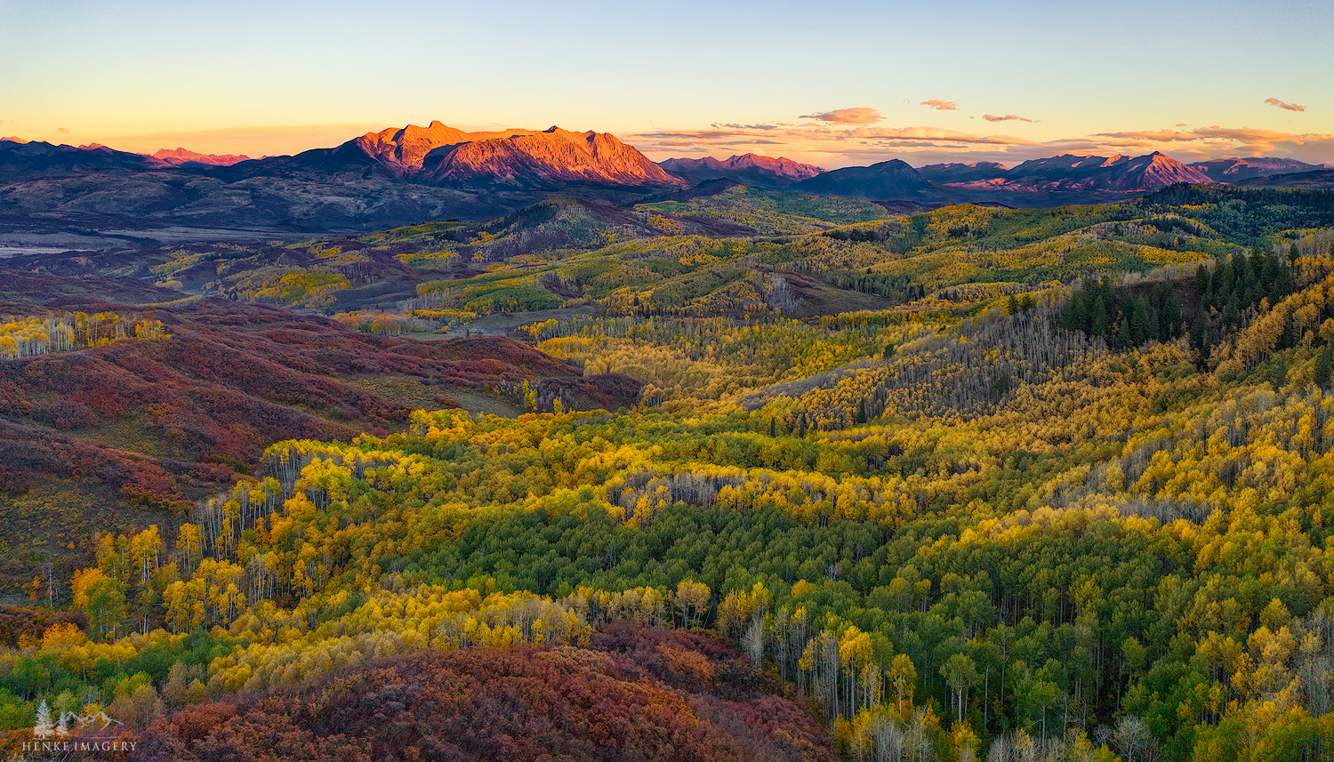 This is without doubt my favorite type of high country fall scene; a nice complimentary color palette. This particular area in...