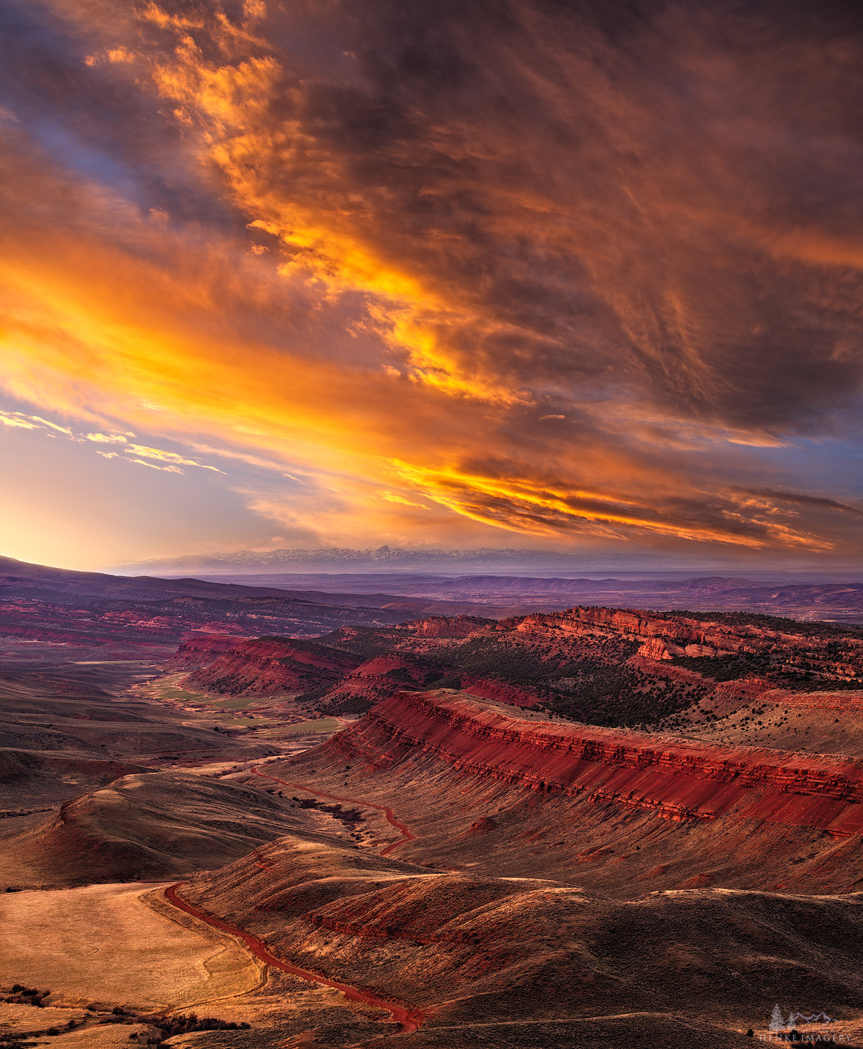 Lander, Wyoming, Red Canyon, sunset, sky, big sky, , photo