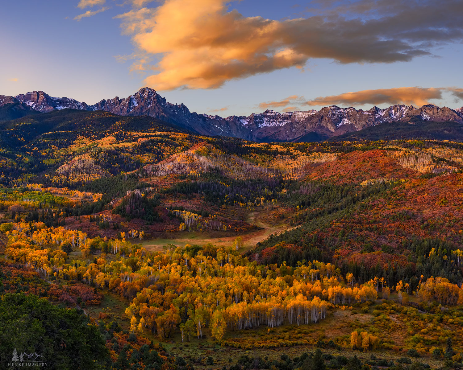 "Taken near Ridgway, this scene includes most of the elements that make fall in Colorado famous. One of the ""labors of love"" is..."