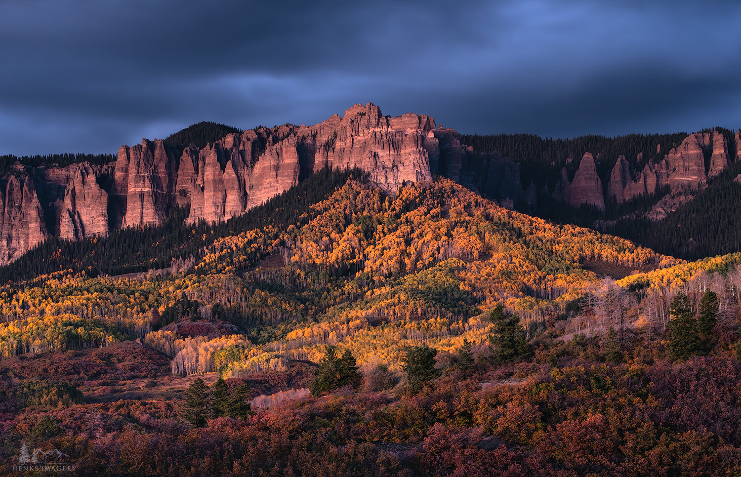 fall, Colorado, long exposure, Cimarron Range, light, photo