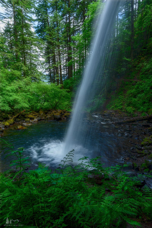 Columbia Gorge, Oregon, greens, falls, spring, greenery, ponytail falls, photo