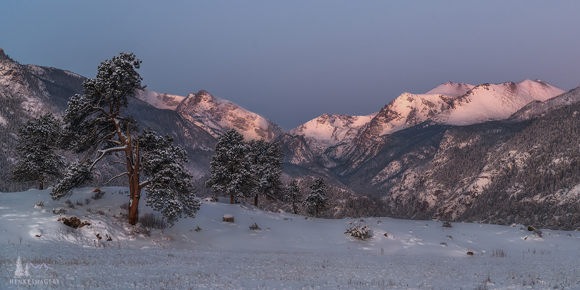 Rocky Mountain National Park, Colorado, snow, winds, glow, photo