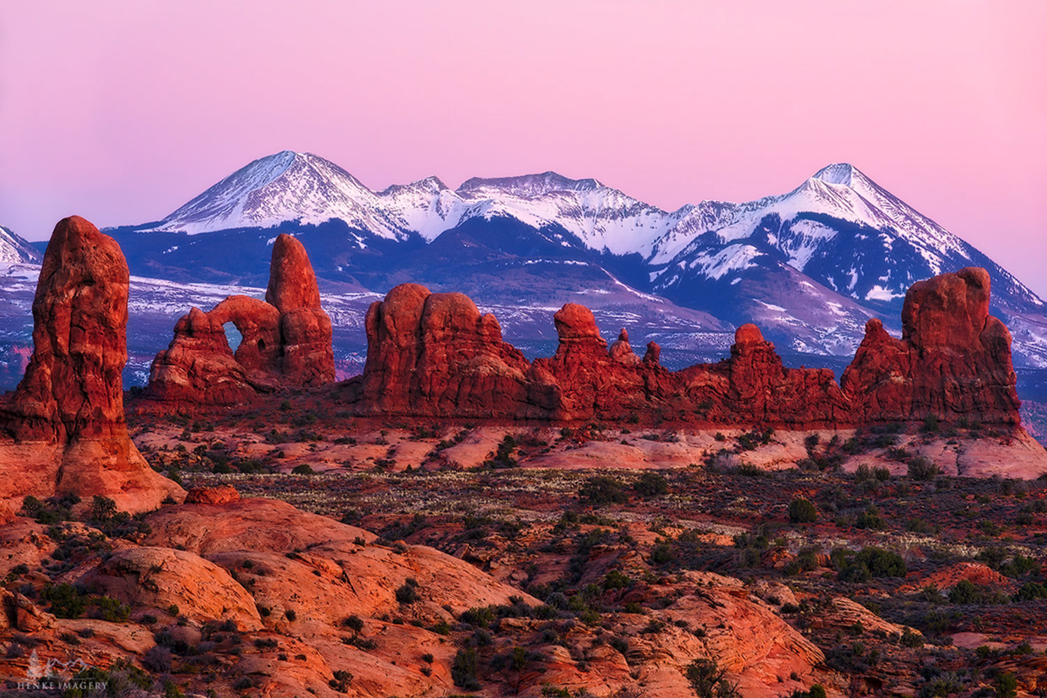 Arches National Park, Utah, glow, sunset, amazing glow, red, rocks,, photo