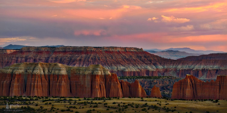 Capitol Reef National Park, Utah, monoliths, national park, morning, pastels, sunrise, photo