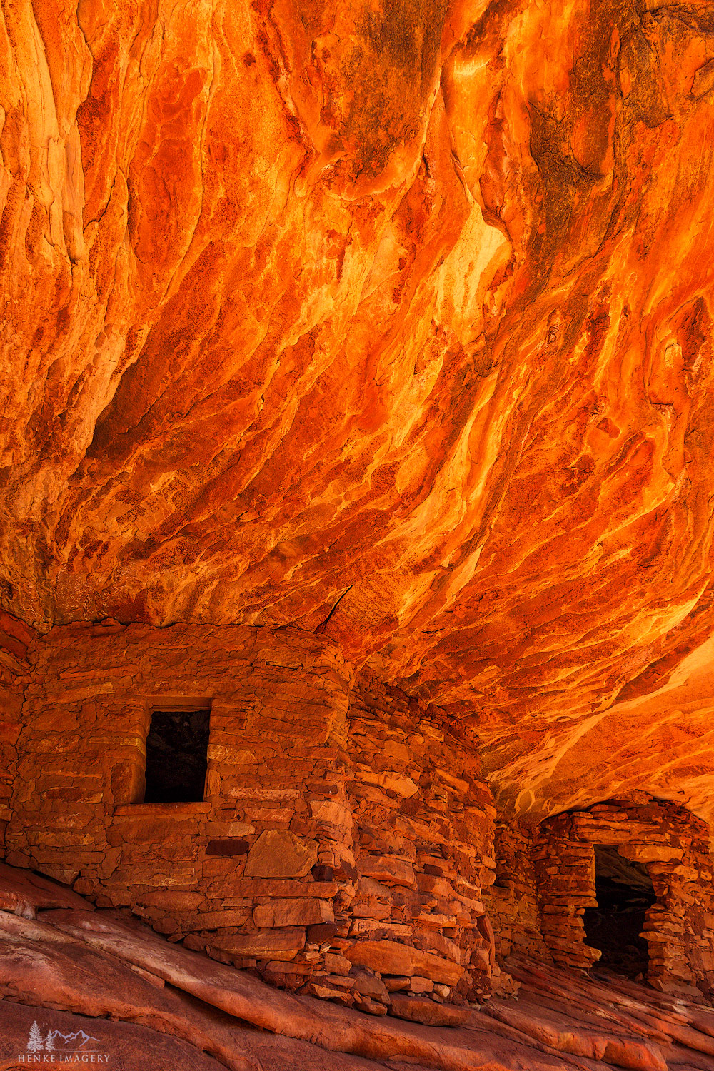 Colorado Plateau, iconic, house on fire, granaries, photo