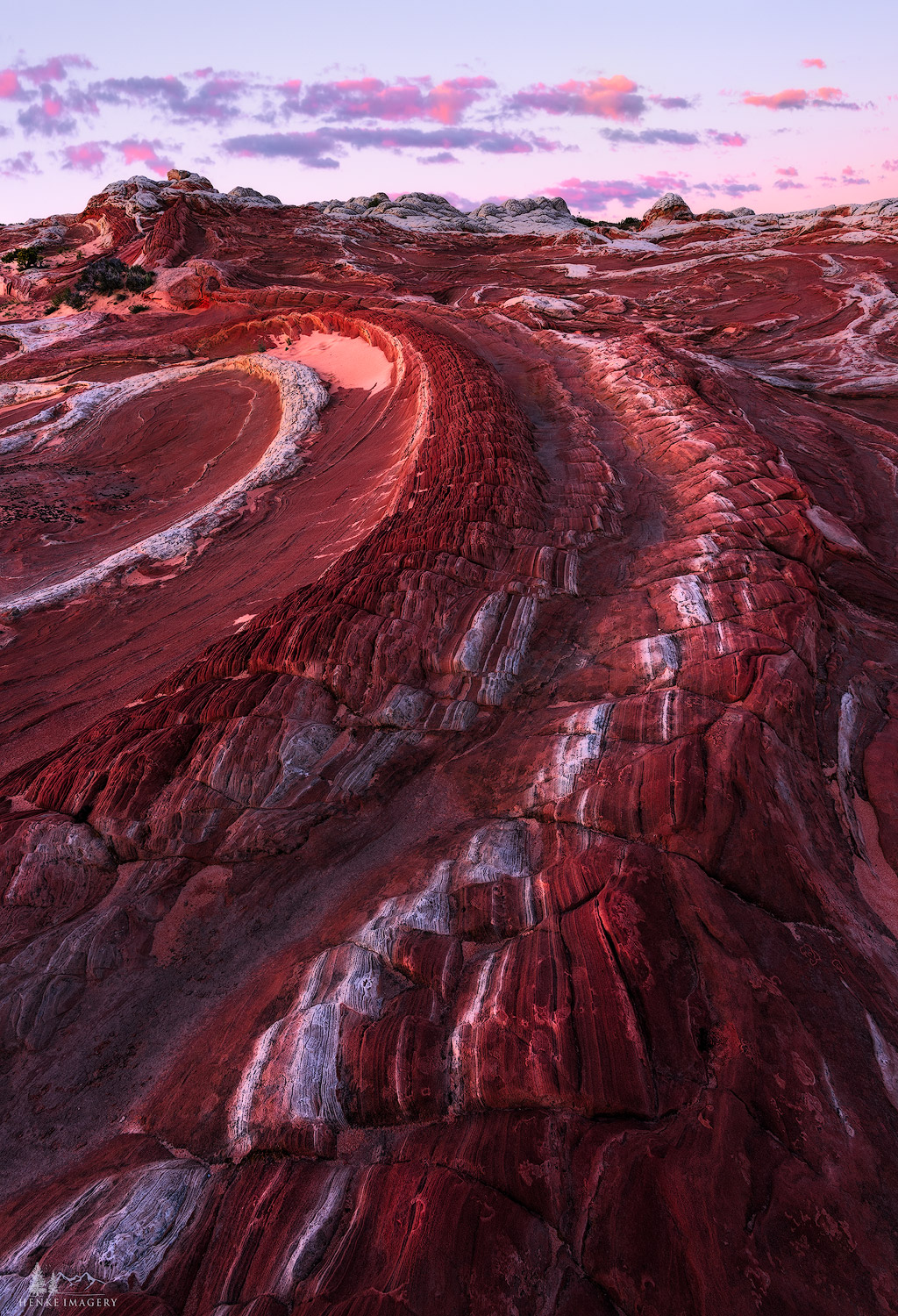 The strange geology of the Vermilion Cliffs Nat'l Monument, AZ, is something to behold! The rock formations are primarily composed...