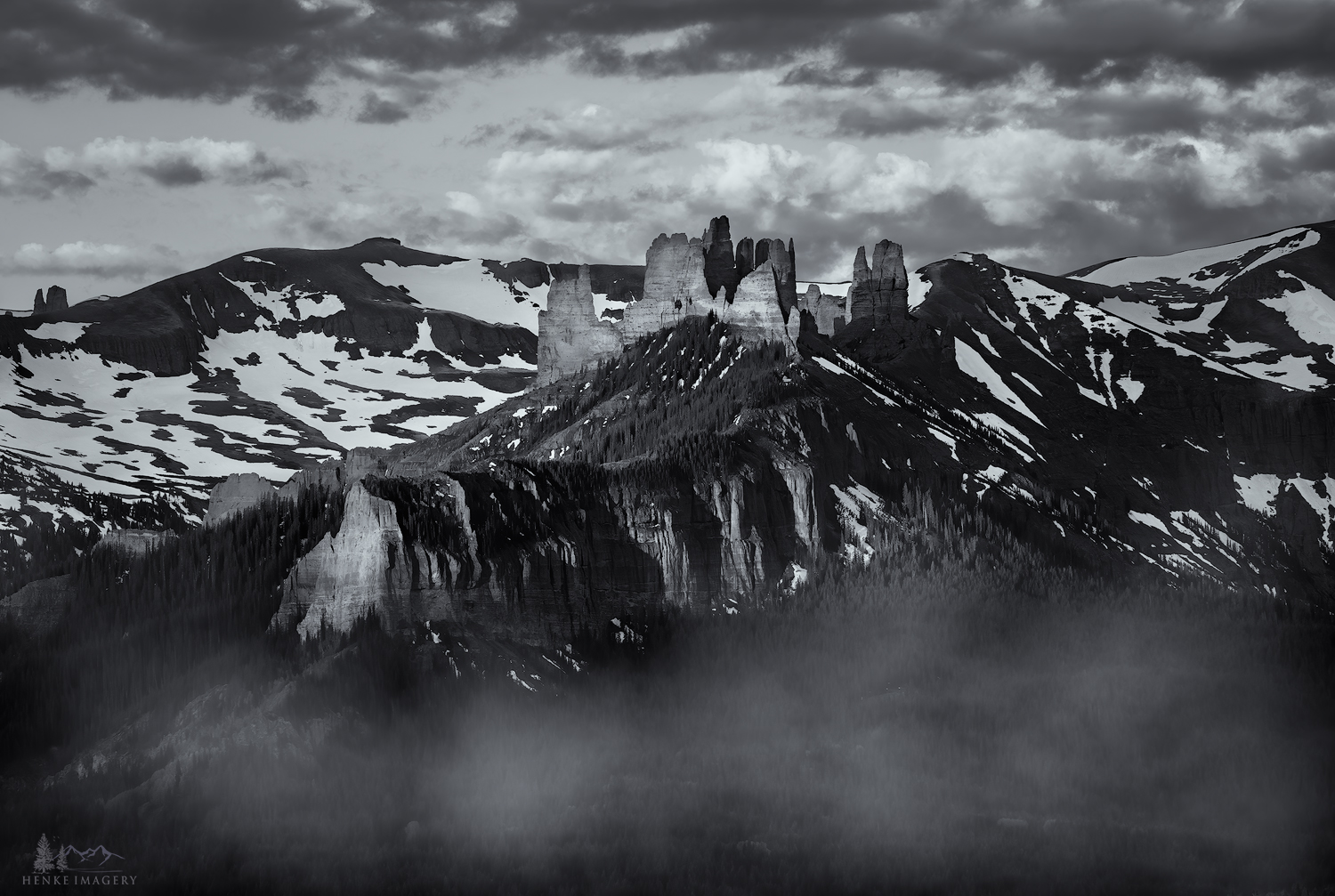 """For those who have photographed near Crested Butte, Colorado, they will recognize """"the Castles"""" as viewed from the Ohio Creek..."""