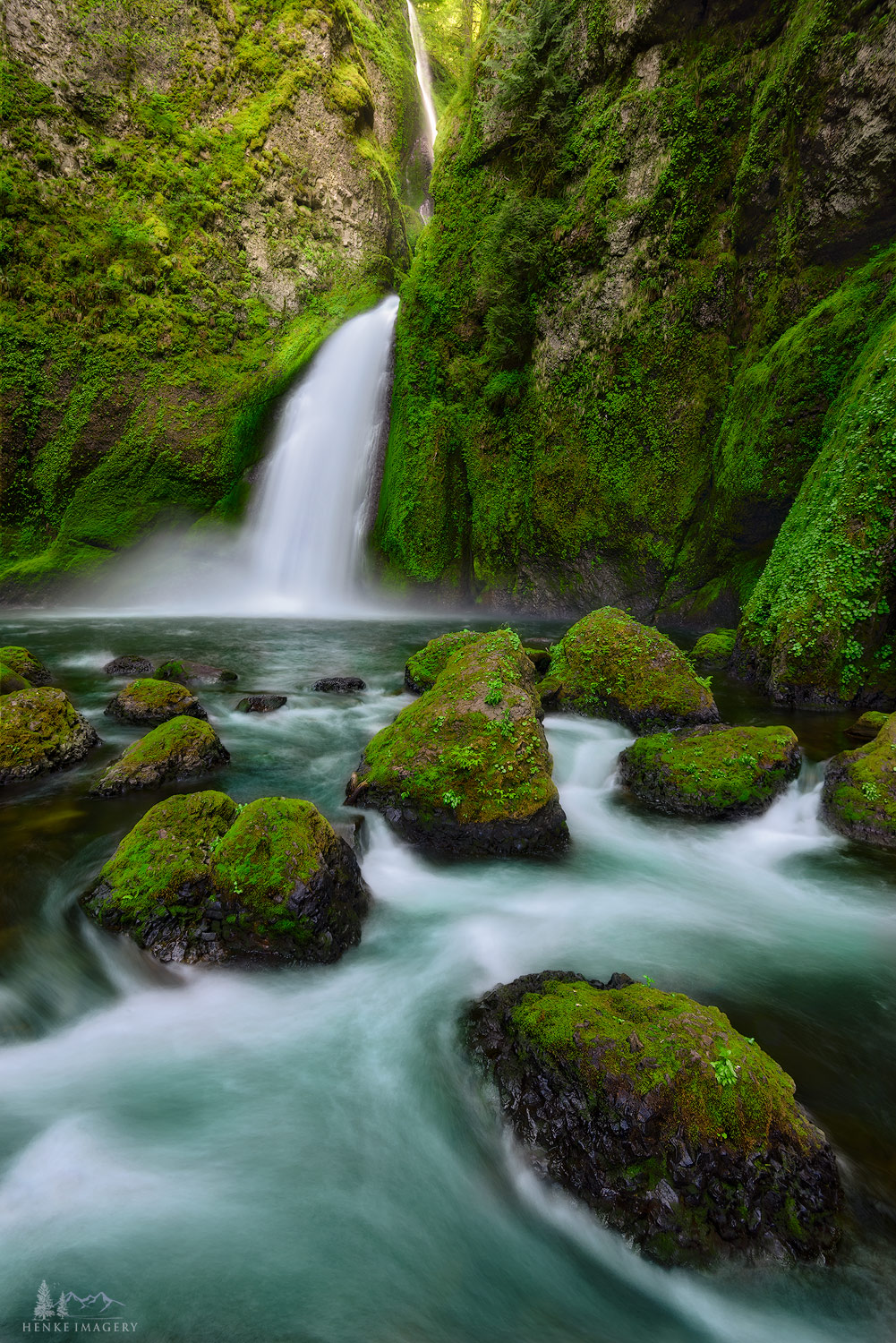 Columbia Gorge, Oregon,Multnomah, Wahkeena, Tunnel Falls, waterfalls, gorge, photo